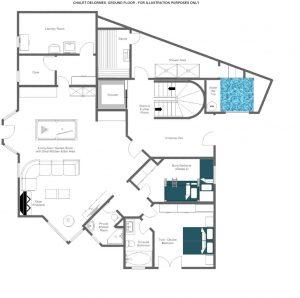 Chalet Delormes - Ground floor Floorplan
