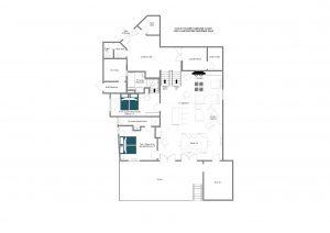 Chalet du Crêt - Ground floor  Floorplan