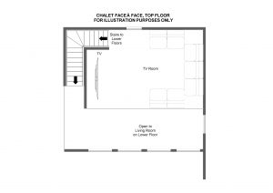 Chalet Face à Face - Mezzanine floor Floorplan