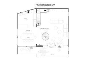 Chalet Face à Face - Top floor Floorplan