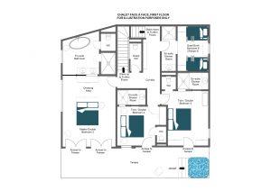 Chalet Face à Face - First floor Floorplan