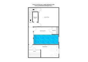 Chalet Face à Face - Lower ground floor Floorplan