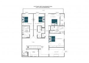 Chalet Inoko -  first floor (entrance level) Floorplan