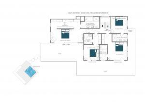 Chalet Les Etrennes - Second floor Floorplan