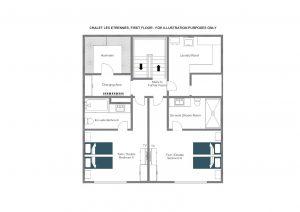 Chalet Les Etrennes - First floor Floorplan