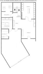 Chalet Les Etrennes - Ground floor Floorplan