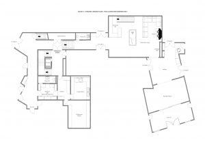 Chalet Mckinley - Ground floor Floorplan