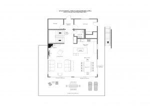 Chalet Mowgli - First floor (entrance level) Floorplan