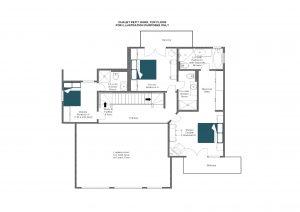 Chalet Petit Ours - Top floor Floorplan
