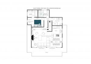 Chalet Toundra - Top floor  Floorplan
