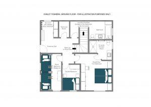 Chalet Toundra - Ground floor  Floorplan