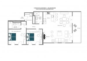 Christiania Apartment 1 - Ground floor Floorplan