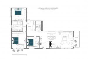 Christiania Apartment 3 - First floor Floorplan