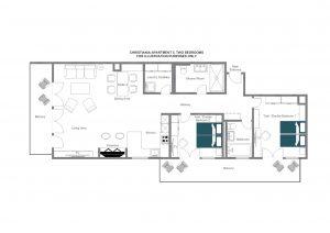 Christiania Apartment 5 - First floor  Floorplan