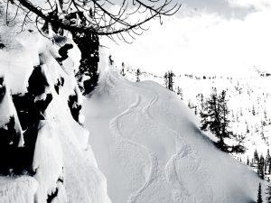 snowy cliff top