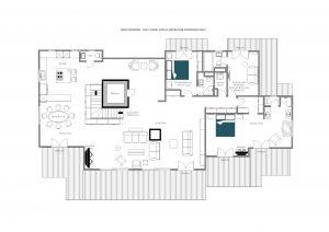 Deux Rivieres - Top floor  Floorplan