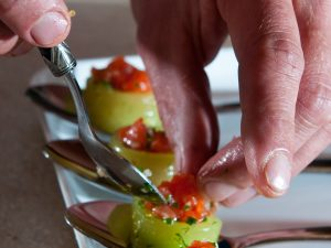 Close up of appetisers