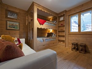Kids bunk room in Val Fleuri