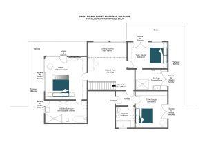 Haus Leytron - Top floor Floorplan