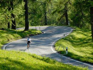 biking is swiss alps