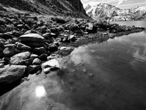 Rocks on the shore of Lac de Louvie