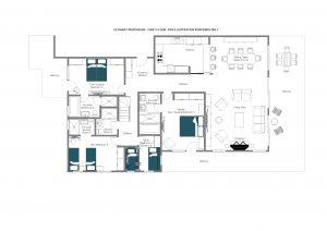 Le Daray Penthouse - First floor  Floorplan