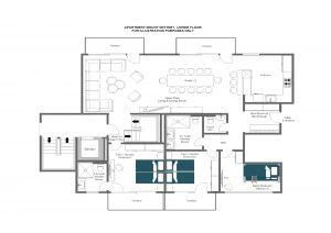 Mount Whitney - Entrance level (third floor)  Floorplan