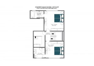Mount Whitney - Top floor (fourth floor) Floorplan