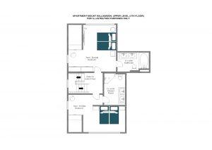 Mount Williamson - Upper level (fourth floor)  Floorplan