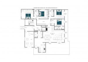 Nidus Apartment 2 - Ground floor Floorplan