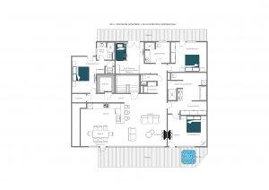 No. 5 Penthouse - Top floor  Floorplan