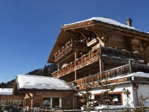Chalet Truffe Blanche in the snow