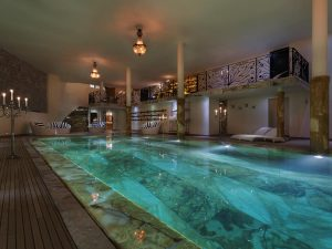 Indoor pool at Chalet Truffe Blanche