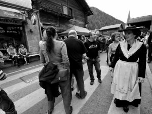 Crowd at the Verbier Raclette Festival