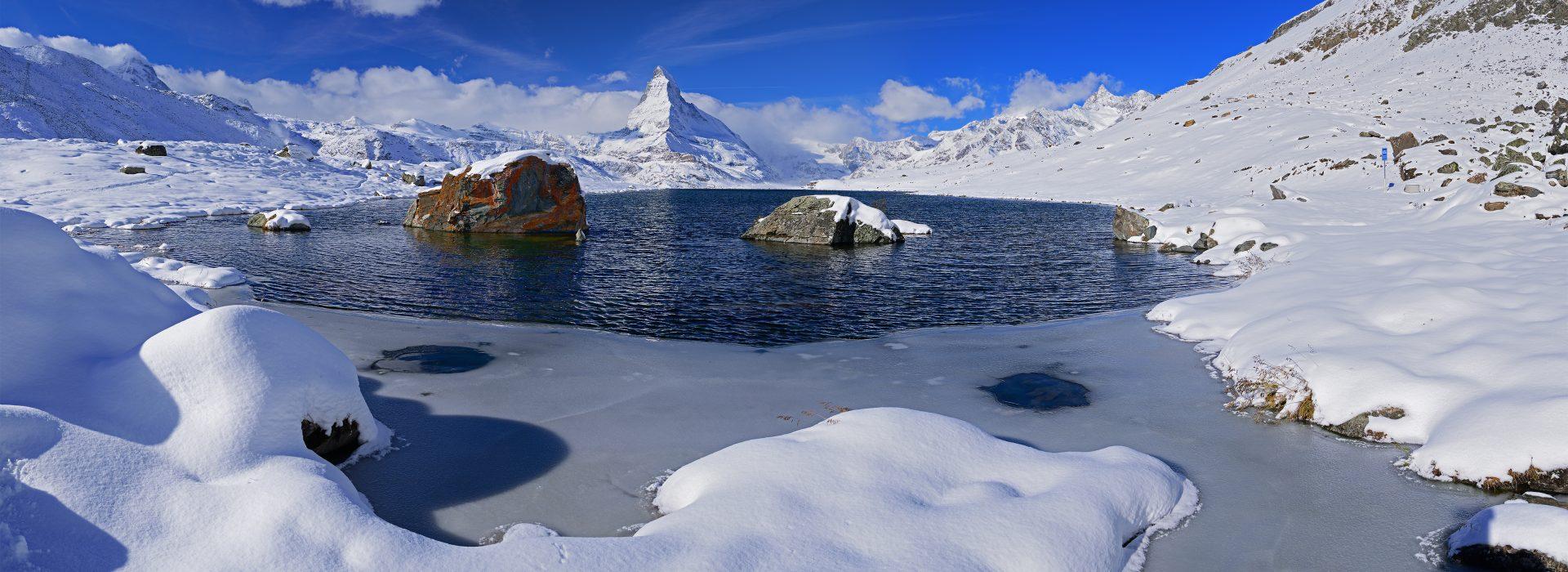 Snow covered Matterhorn