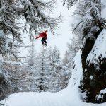 Road jump in Bruson