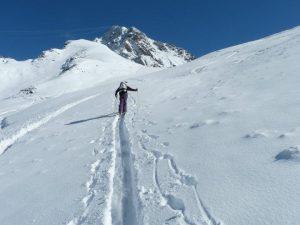 Ski touring in October