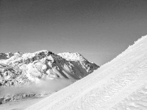 Snowy St Anton mountainside