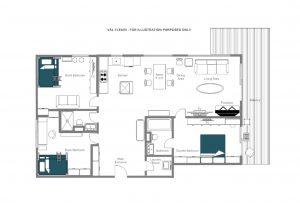 Val Fleuri - Third floor  Floorplan