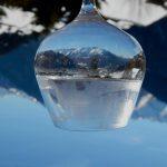 Verbier reflected in wine glass
