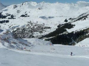Snow on Verbier