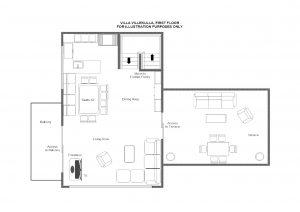 Villa Villekulla - Top floor Floorplan